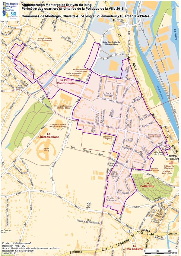 Contrat urbain de coh sion sociale de agglom ration for Plan de montargis